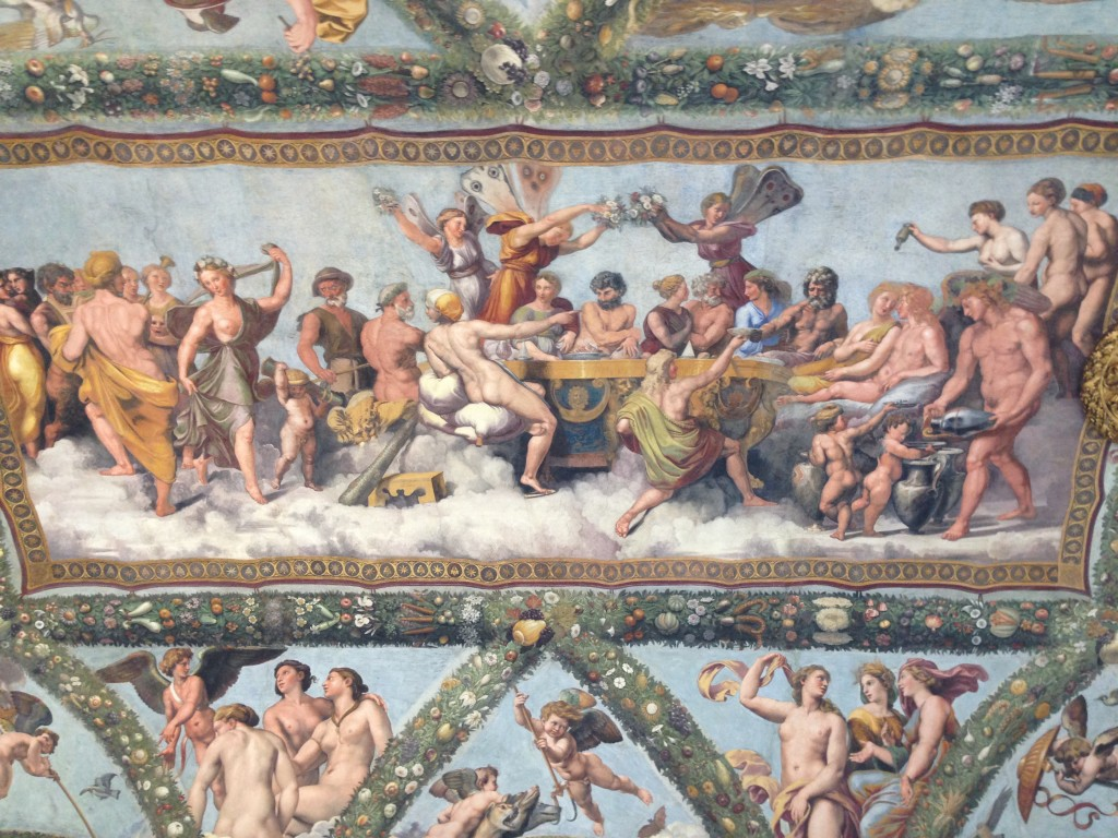 plafondschildering in Villa Farnesina