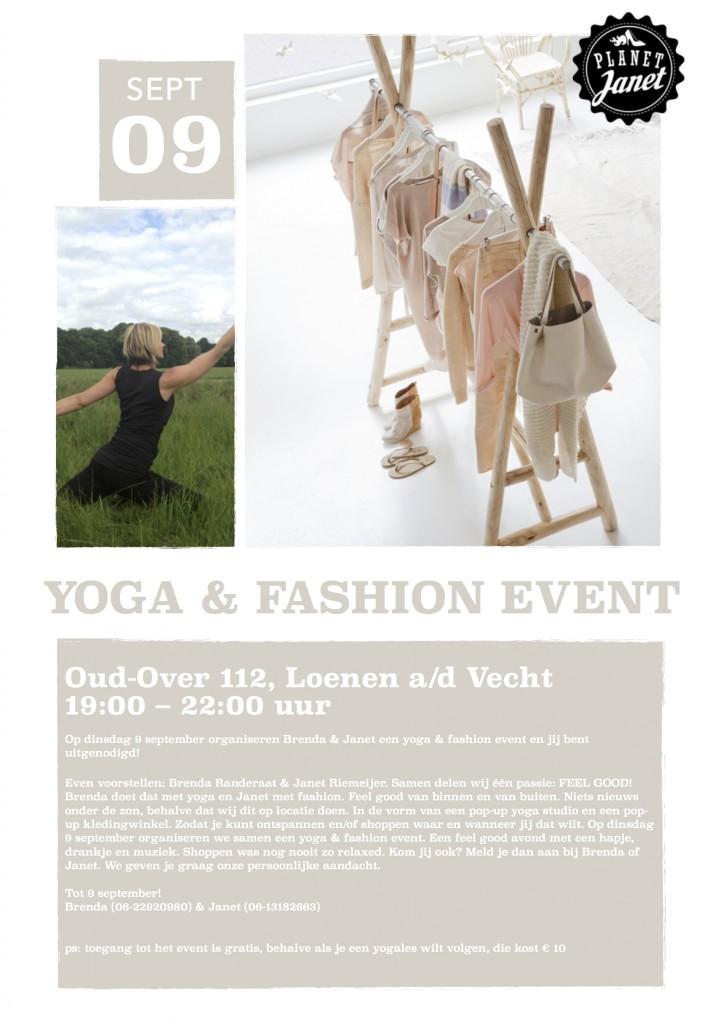 uitnodiging yoga & fashion event 2